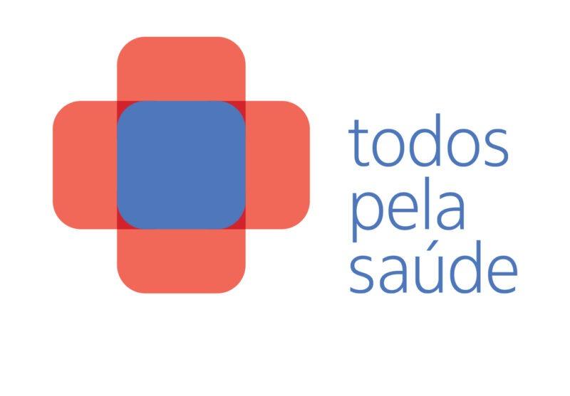 """Logo do projeto """"Todos pela saúde"""""""